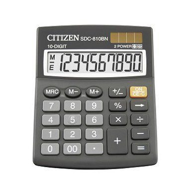 Калькулятор CITIZEN SDC-810II 10dgt, 125х100мм